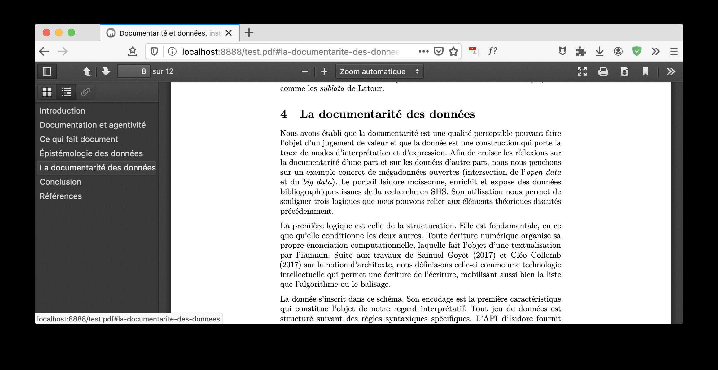 Exemple de fichier PDF ouvert directement à la bonne section via son URL. Le fichier source, utilisé notamment sur ce site, n'a pas eu besoin d'être modifié.